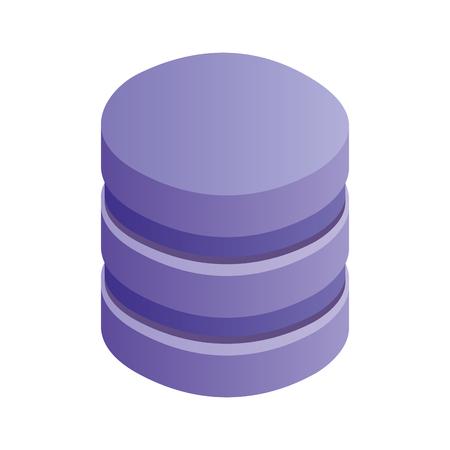 database center storage file system network vector illustration
