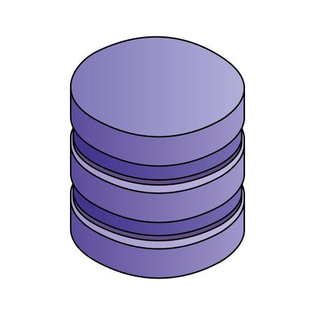 database center storage file system network vector illustration Stock Vector - 110418582