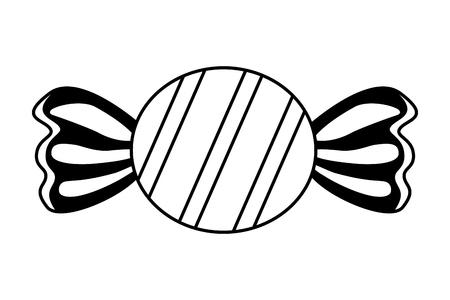 Ilustración de vector de confitería de azúcar dulce envuelto caramelo