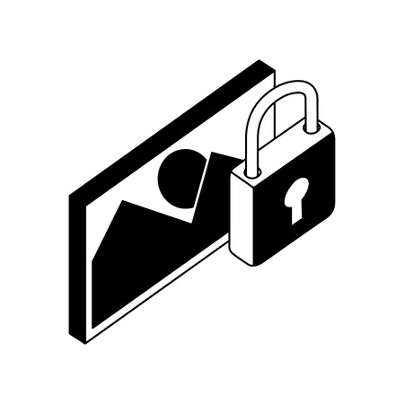 data network image picture security protection vector illustration Ilustrace