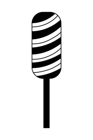 lollipop sweet caramel snack icon vector illustration