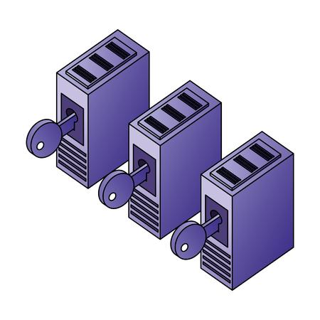database server storage data network security vector illustration Stock Vector - 110418629