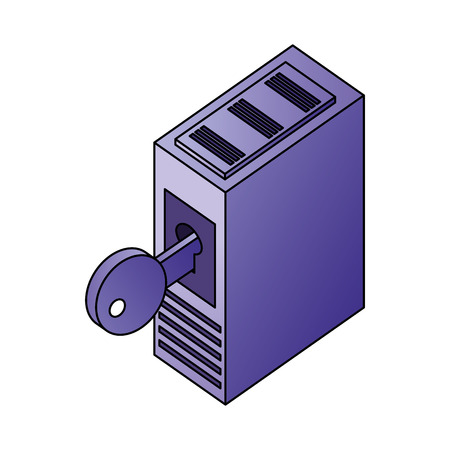 database server storage data network security vector illustration