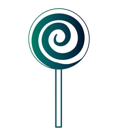 sweet round lollipop spiral icon vector illustration neon
