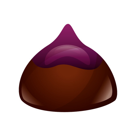 sweet candy of chocolate isolated icon vector illustration design Ilustrace