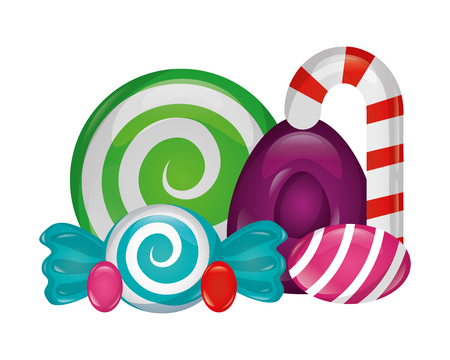 sweet candies isolated icon vector illustration design Vector Illustration