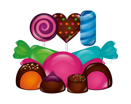 sweet candies isolated icon vector illustration design Ilustrace