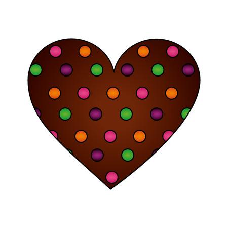 달콤한 심장 초콜릿 칩 사탕 벡터 일러스트 레이 션 벡터 (일러스트)
