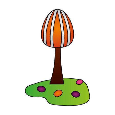 tree land sweet candies confetionery vector illustration 向量圖像
