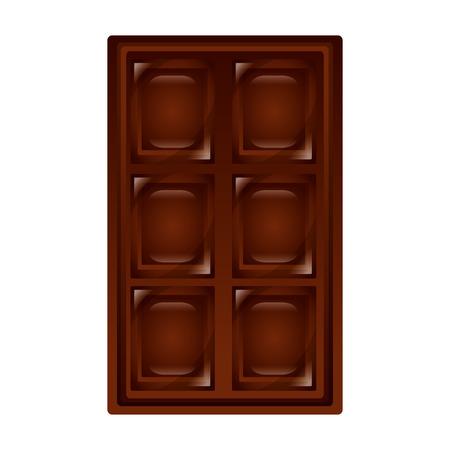 chocolate bar sweet snack confetionery vector illustration Illustration