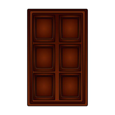 chocolate bar sweet snack confetionery vector illustration Stock Vector - 107527195