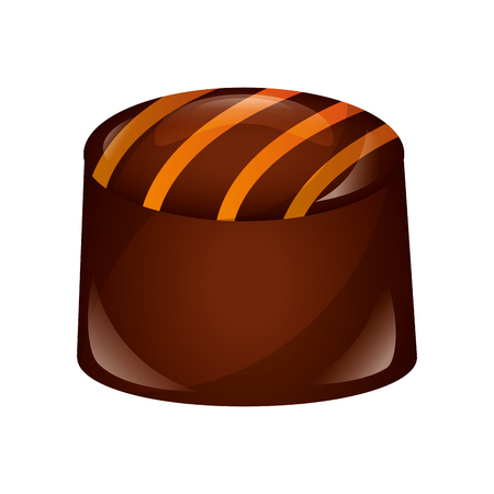 chocolate bonbon candy sweet confetionery vector illustration 向量圖像