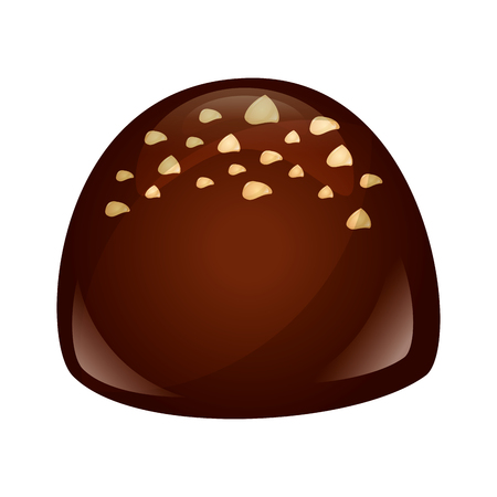 chocolate bonbon candy sweet confetionery vector illustration Banque d'images - 107527644
