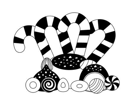 sweet candies isolated icon vector illustration design 일러스트