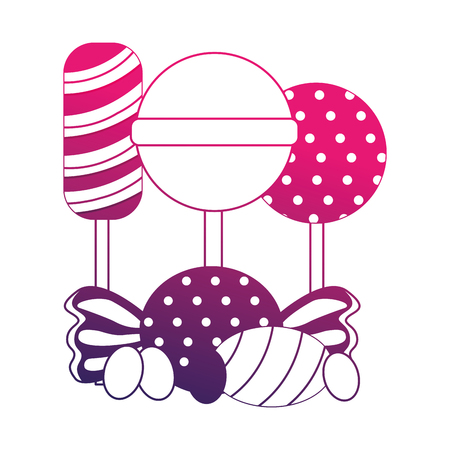 sweet candies isolated icon vector illustration design