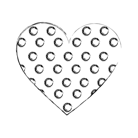cookie of chocolate in shape heart isolated icon vector illustration design Ilustração