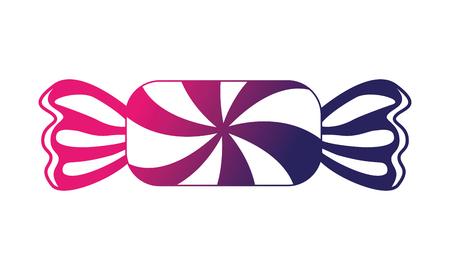 bonbon sucré icône isolé illustration vectorielle conception