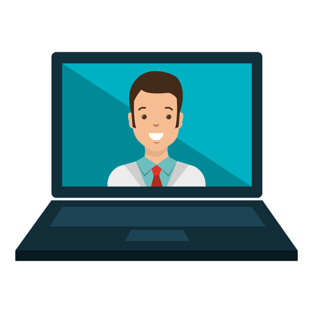 laptop with doctor telemedicine vector illustration design