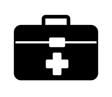 kit medical silhouette isolated icon vector illustration design