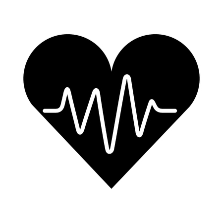 medical heart silhouette isolated icon vector illustration design