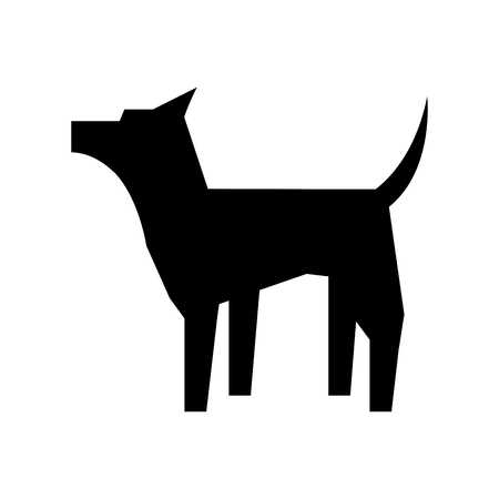 dog mascot silhouette isolated icon vector illustration design Ilustrace