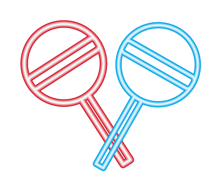 neon crossed sweet lollipops confectionery vector illustration