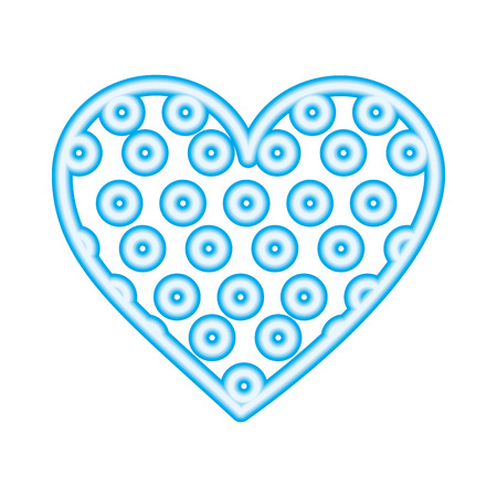 neon sweet bonbon caramel heart dots vector illustration