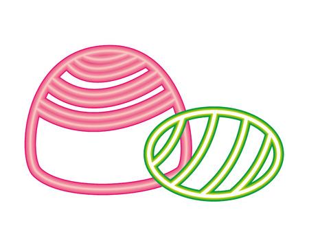 sweet candies caramel neon bright light vector illustration