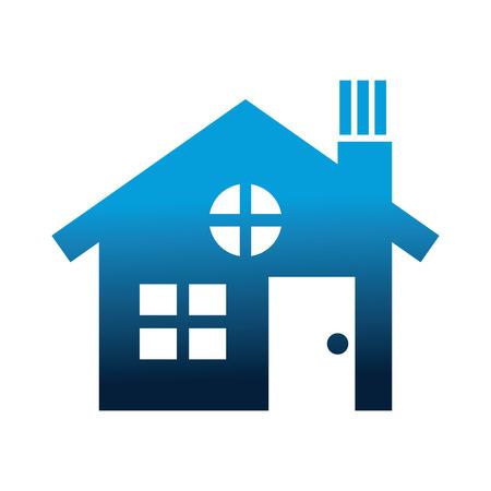 house building silhouette icon vector illustration design Vetores