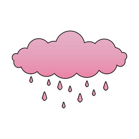 cloud rain drops climate sky image vector illustration