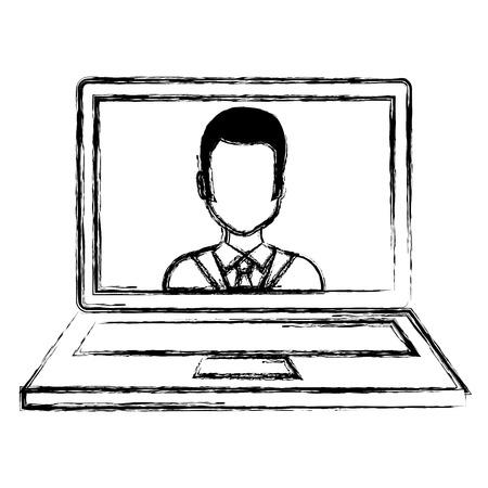 laptop with doctor telemedicine vector illustration design