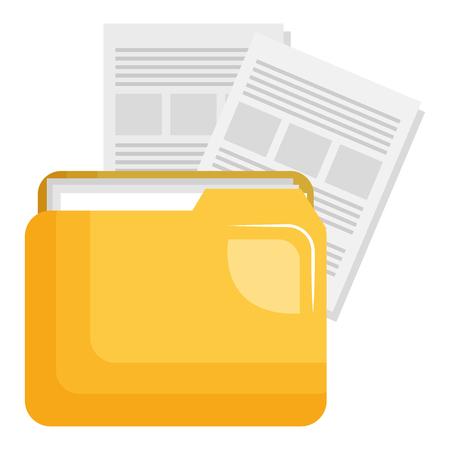 dossier de fichiers avec des documents vector illustration design