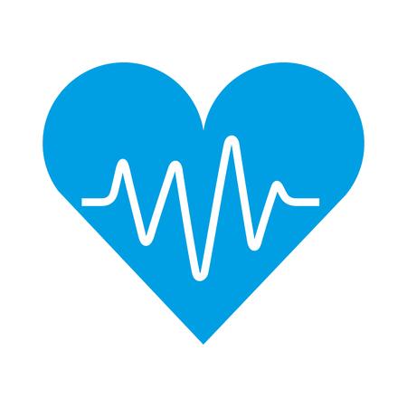 Ilustración de vector de cardio de ritmo de pulso de latido de corazón médico