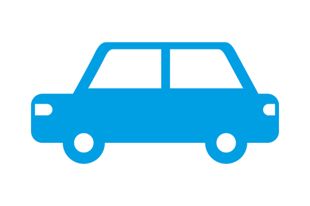 car vehicle transport pictogram isolated image vector illustration  イラスト・ベクター素材