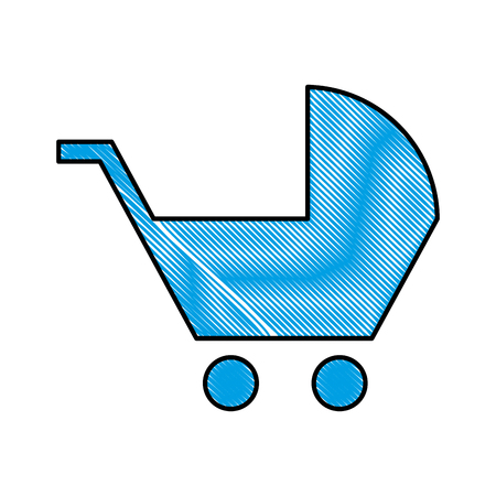 baby cart silhouette isolated icon vector illustration design
