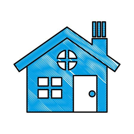 house building silhouette icon vector illustration design Banco de Imagens - 110420164