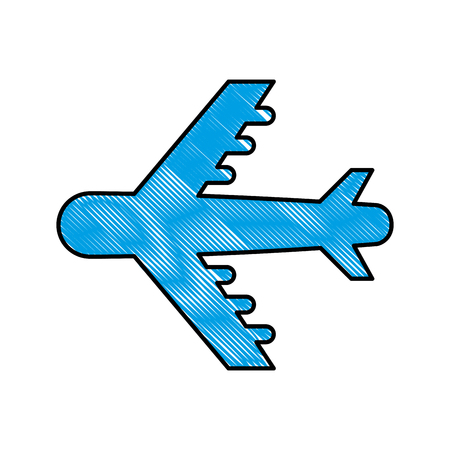 airplane silhouette isolated icon vector illustration design