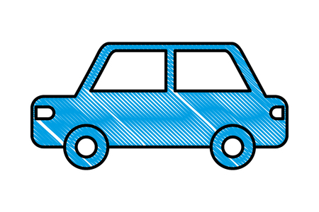 car sedan silhouette isolated icon vector illustration design