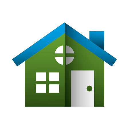 house building silhouette icon vector illustration design
