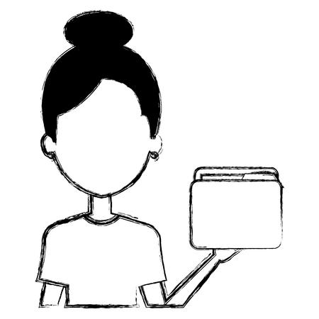 file folder isolated icon vector illustration design Imagens - 110420472
