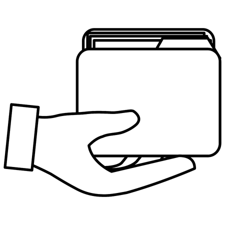 hand with file folder vector illustration design Stock Vector - 110420485