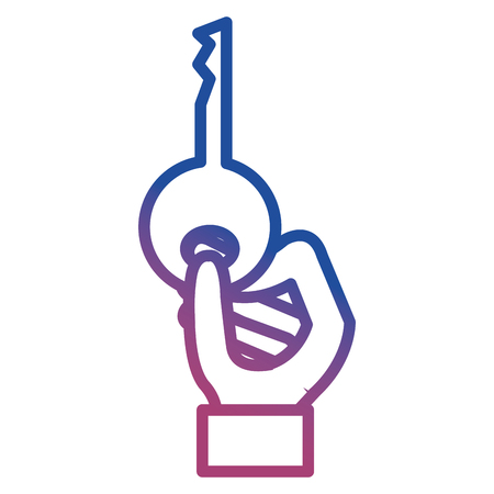 hand with key icon vector illustration design