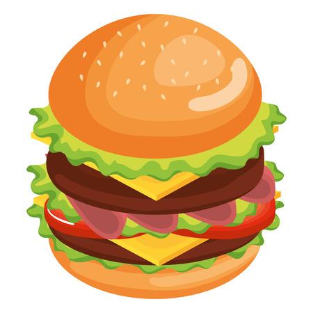 delicious burger fast food vector illustration design Illustration