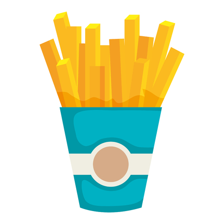 delicious french fries icon vector illustration design 向量圖像