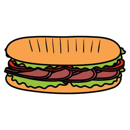 Diseño de ilustración de vector de sandwish fresco y delicioso