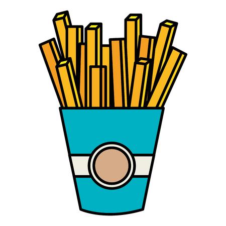 delicious french fries icon vector illustration design Illusztráció