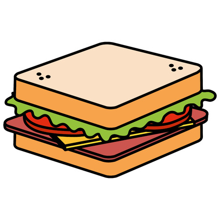 fresh and delicious sandwish vector illustration design