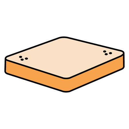 fresh bread toast isolated icon vector illustration design