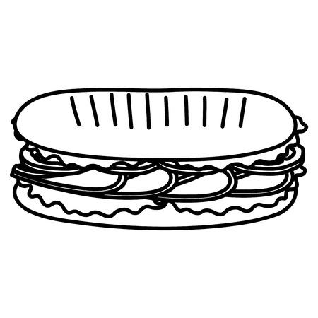 fresh and delicious sandwish vector illustration design 일러스트