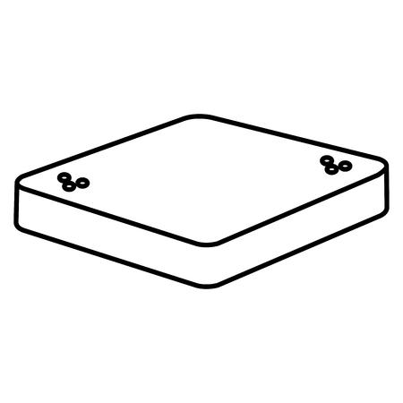 fresh bread toast isolated icon vector illustration design Stock Vector - 110421961